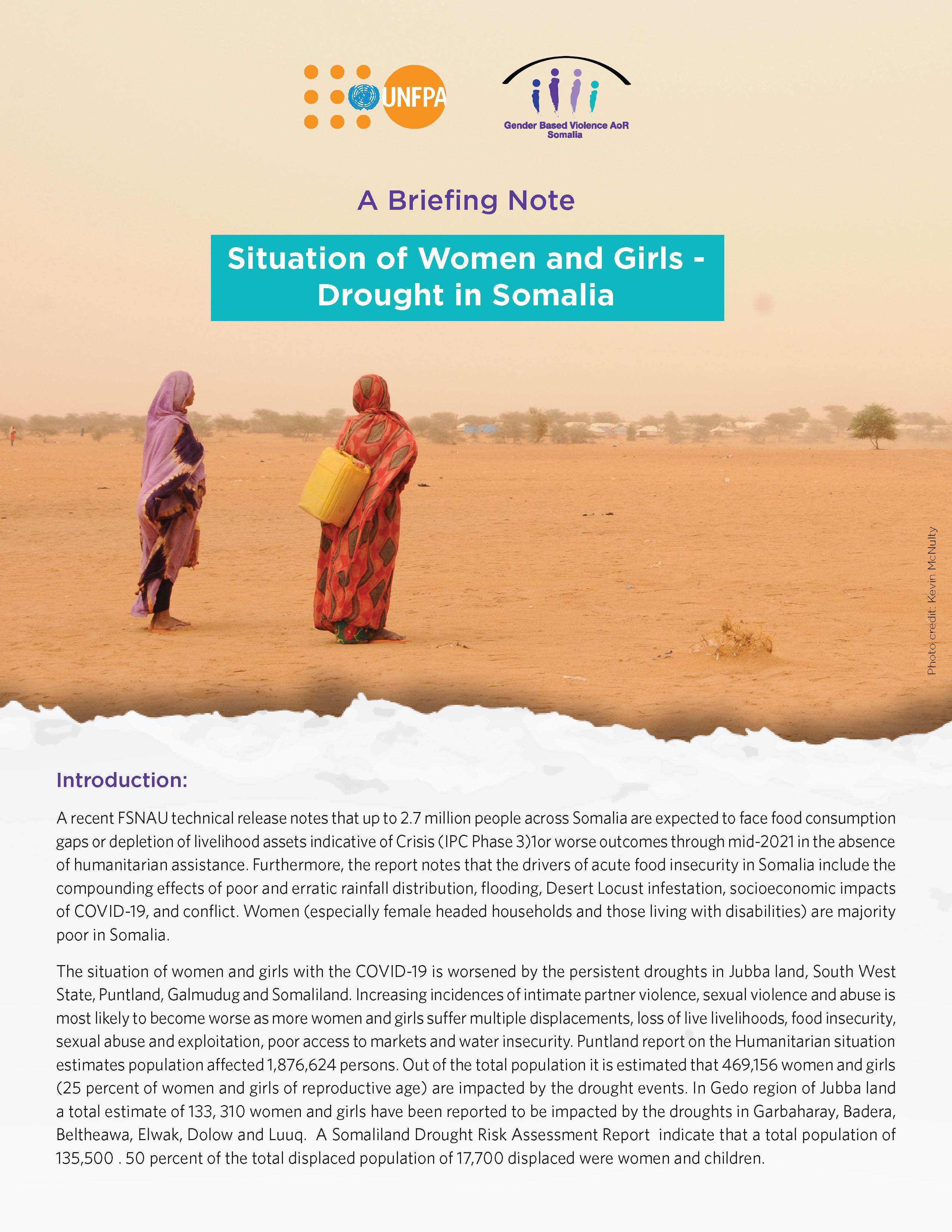 Situation of Women and Girls - Drought in Somalia